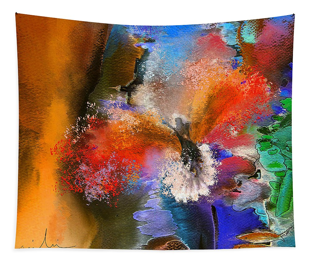 Dream Tapestry featuring the painting Phoenix by Miki De Goodaboom