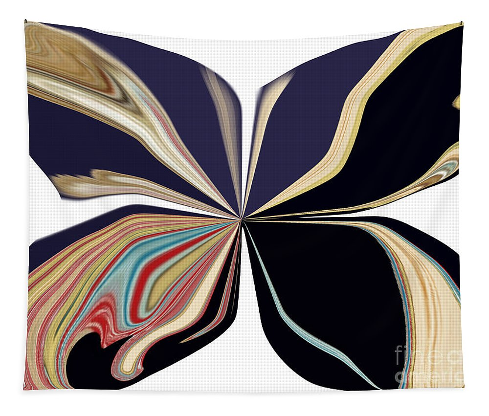 Butterfly Tapestry featuring the digital art Picasso Get Your Brush Off My Canvas by Debra Lynch