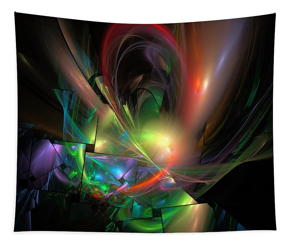 Fantasy Tapestry featuring the digital art Picassoractal by David Lane