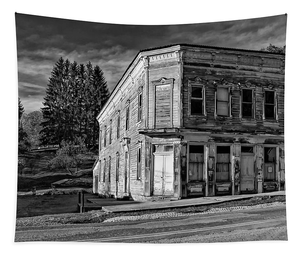 Pickens Tapestry featuring the photograph Pickens Wv Monochrome by Steve Harrington