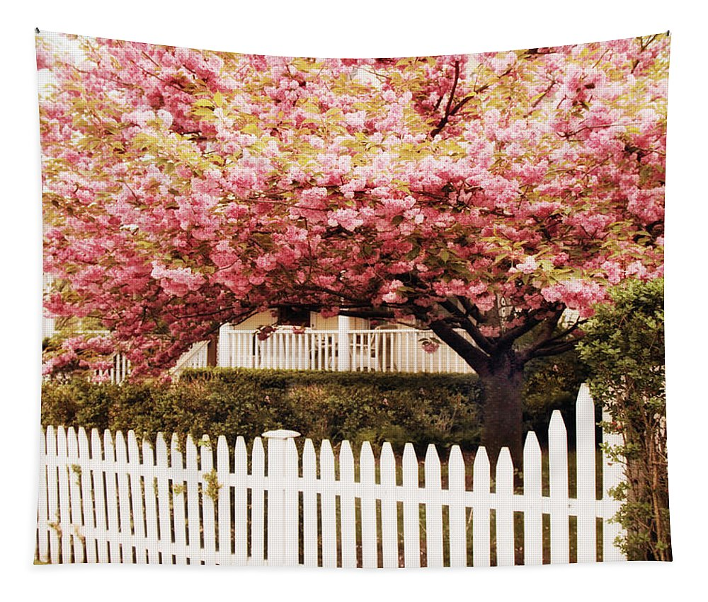 Spring Tapestry featuring the photograph Picket Fence Charm by Jessica Jenney