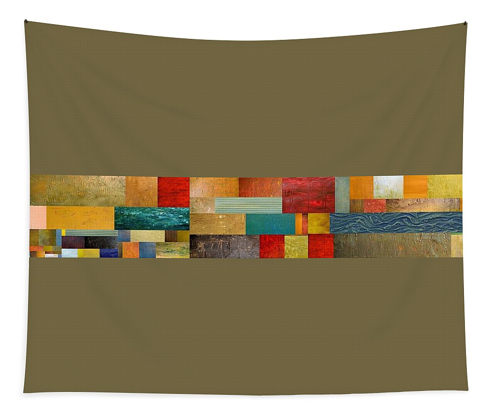 Skinny Tapestry featuring the painting Pieces Project V by Michelle Calkins
