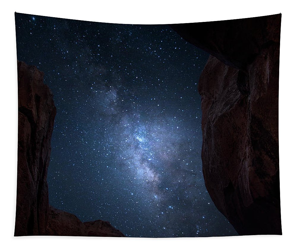 Milky Way Tapestry featuring the photograph Pike National Forest Milky Way by Mark Andrew Thomas