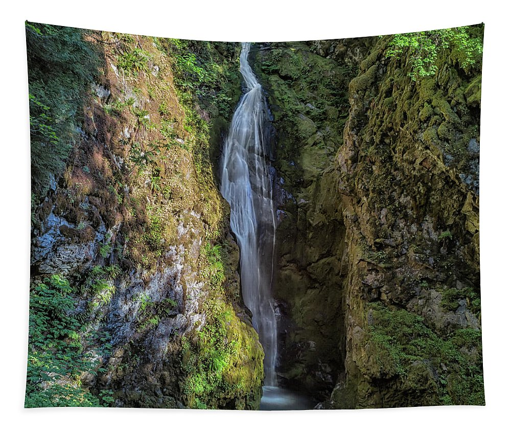 Pinard Falls Tapestry featuring the photograph Pinard Falls Squared by Belinda Greb