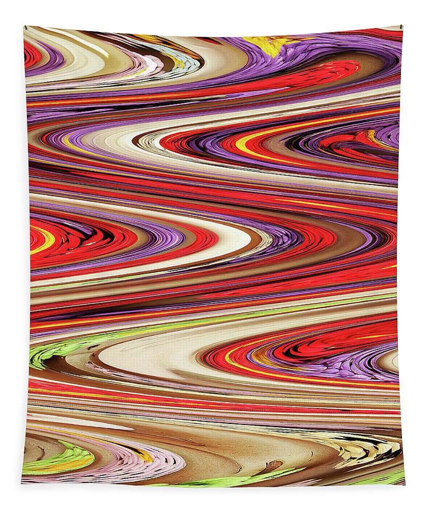 Pine Cone Flower Abstract Tapestry featuring the photograph Pine Cone Flower Abstract by Tom Janca