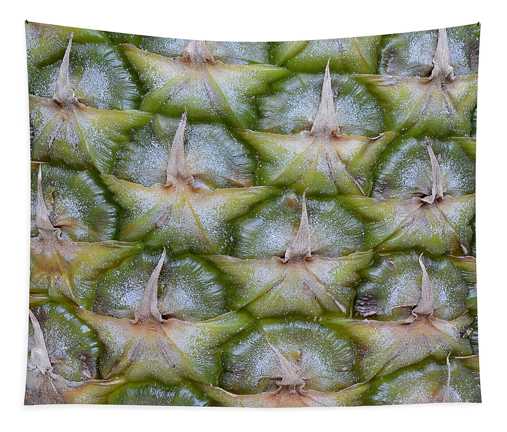Abstract Tapestry featuring the photograph Pineapple Close-up by Marv Vandehey
