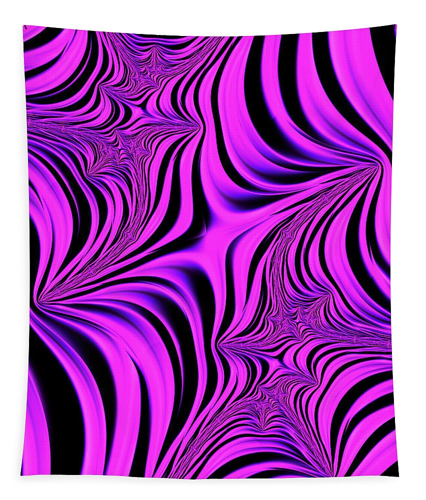 Fractal Tapestry featuring the digital art Pink Abyss by Steve Purnell