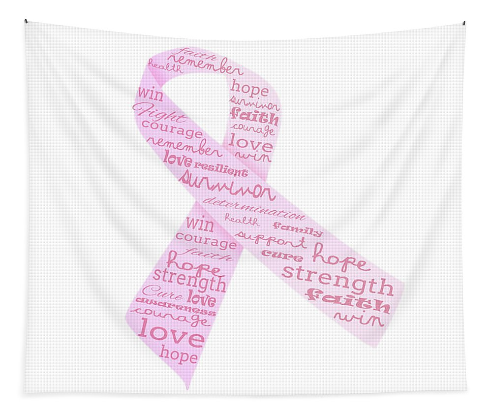 Hope Tapestry featuring the digital art Pink Courage by Pamela Williams
