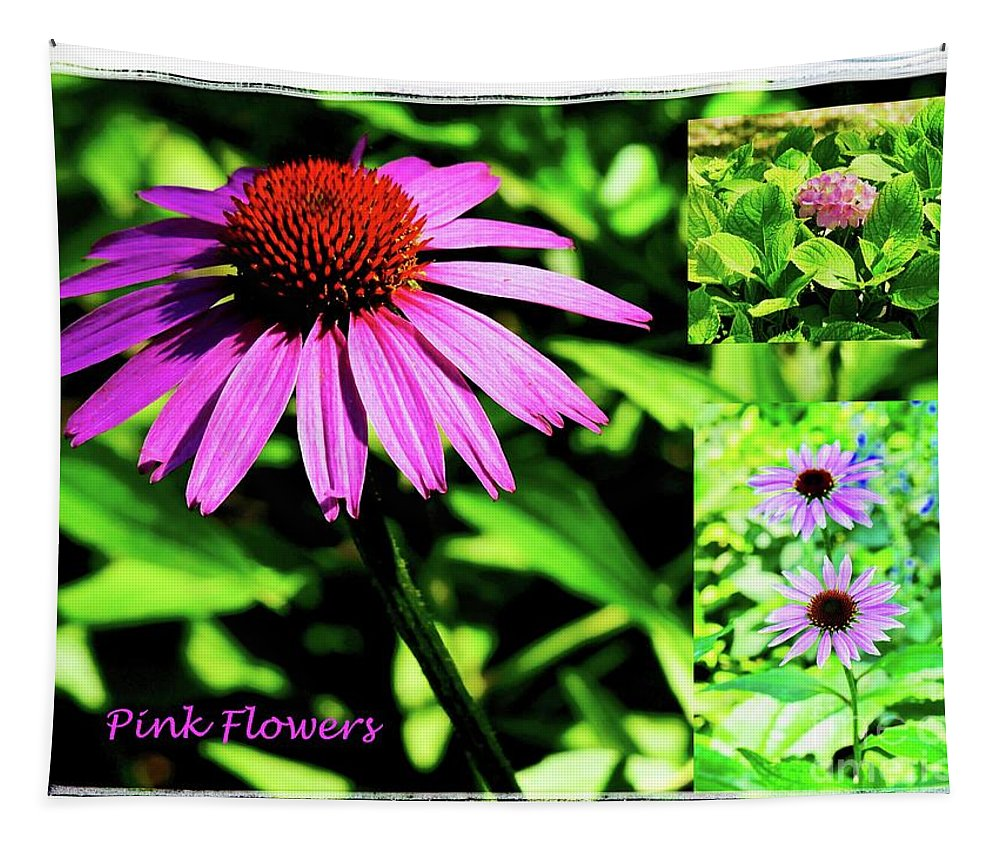 Garden Tapestry featuring the photograph Pink Flowers by Gary Richards