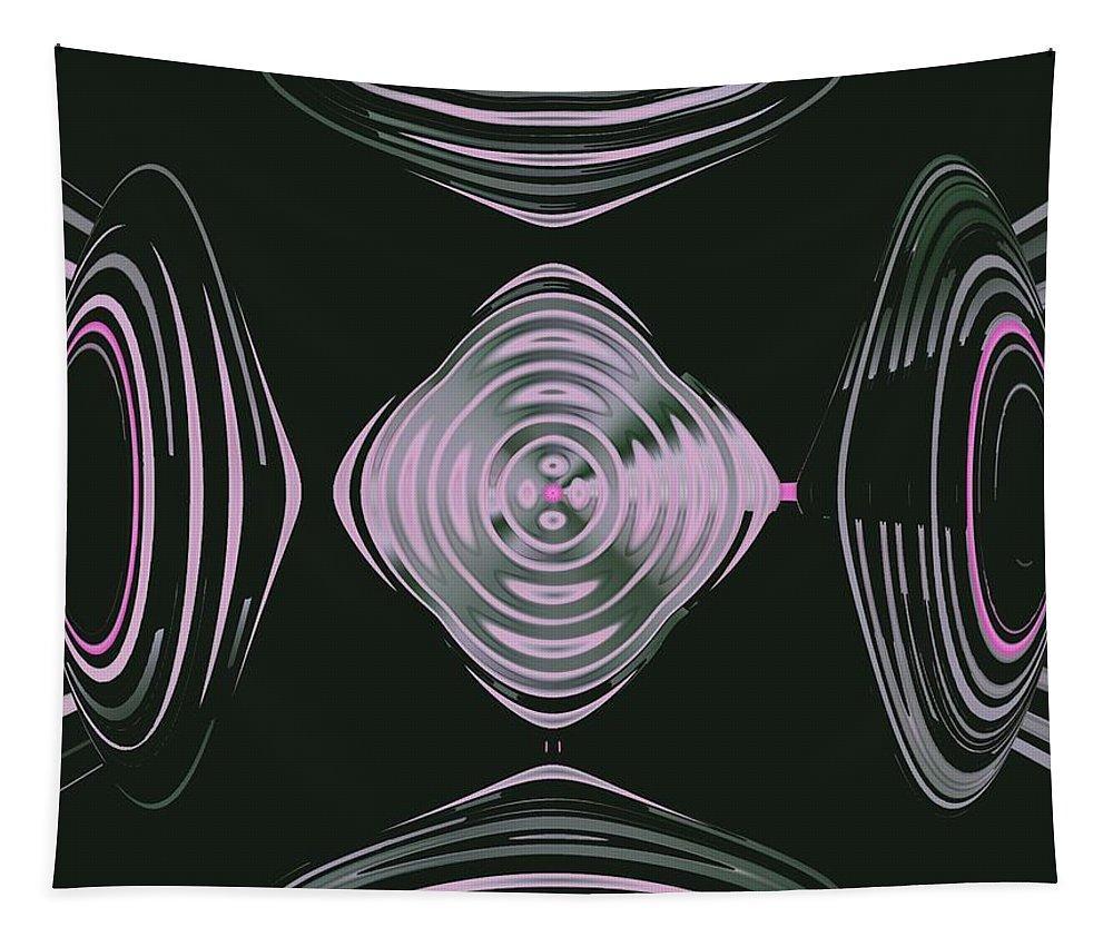 Space Tapestry featuring the digital art Pink Flower Scapeships by Tammie Sisneros