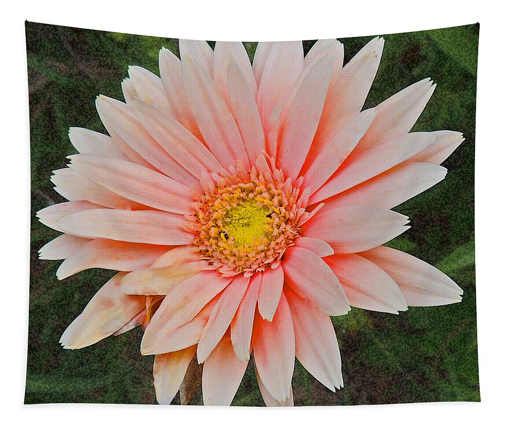 Photographic Print Tapestry featuring the photograph Pink Gerbera Daisy by Marian Bell