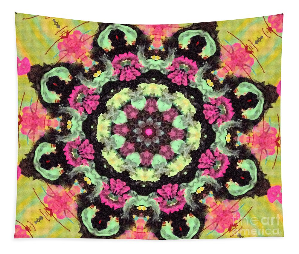 Gorgeous Tapestry featuring the digital art Pink Lemonade by Sandra Gallegos