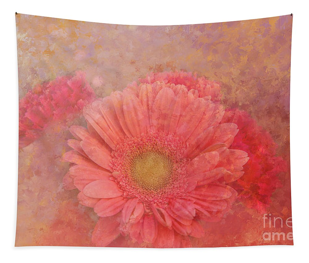Daisy Tapestry featuring the photograph Pink Spring by Elisabeth Lucas
