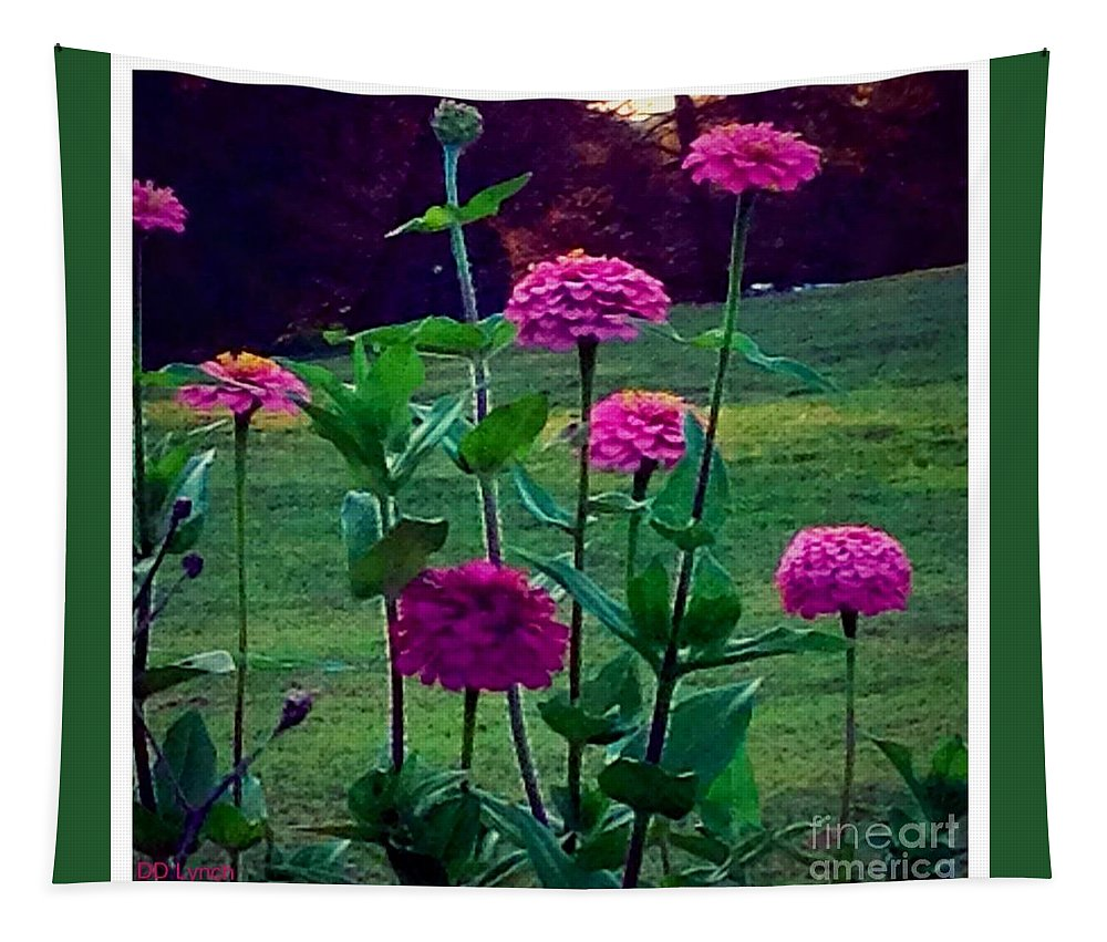 Pink Tapestry featuring the photograph Pink Zinnia's by Debra Lynch