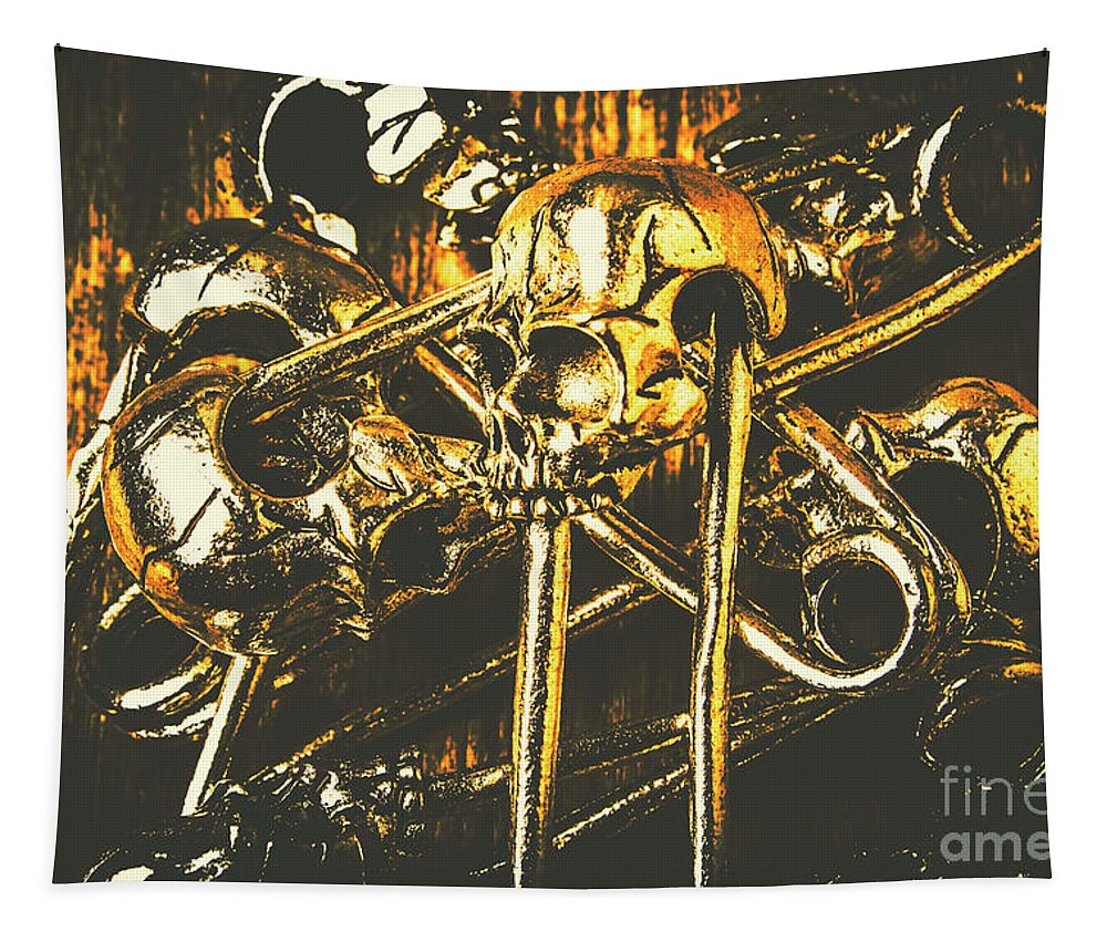 Scary Tapestry featuring the photograph Pins Of Horror Fashion by Jorgo Photography - Wall Art Gallery