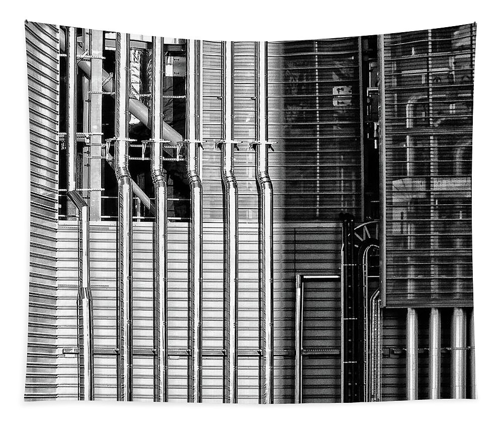 Architecture Tapestry featuring the photograph Pipes And Metal - Leeds by Philip Openshaw