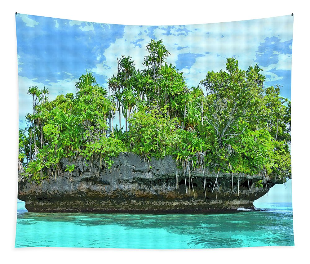 Lagoon Tapestry featuring the photograph Pirate Ship Cay by Dominic Piperata