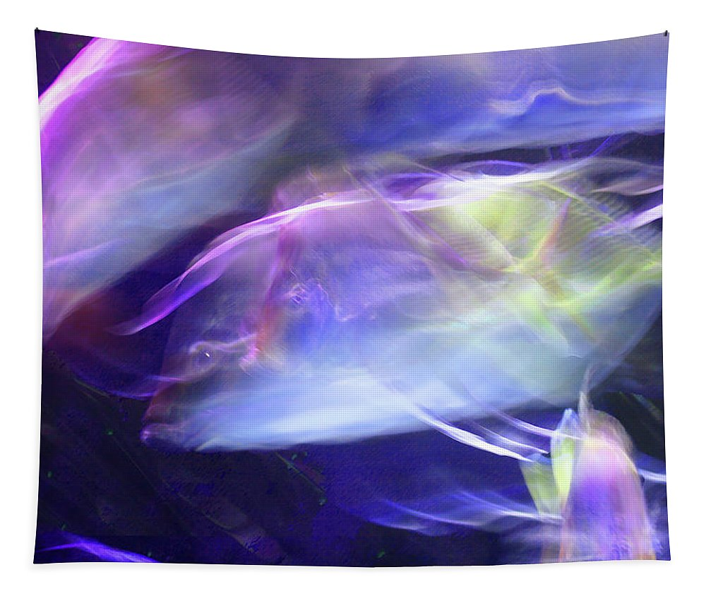 Abstract Tapestry featuring the photograph Pisces by Steve Karol