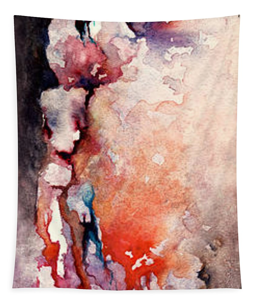Abstract Tapestry featuring the painting Places in the Heart by William Russell Nowicki