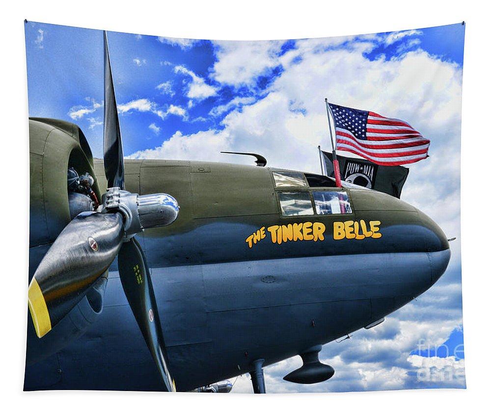 Paul Ward Tapestry featuring the photograph Plane - Curtiss C-46 Commando by Paul Ward
