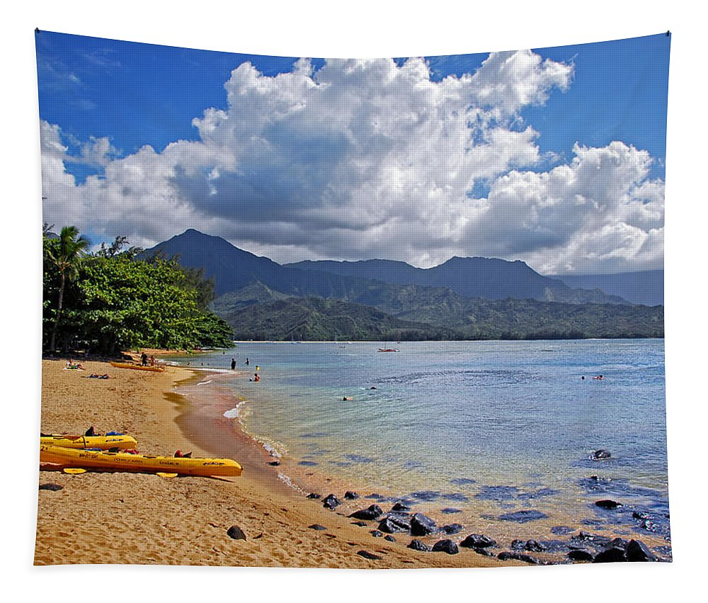 Kauai Tapestry featuring the photograph Play Time In Princeville by Lynn Bauer