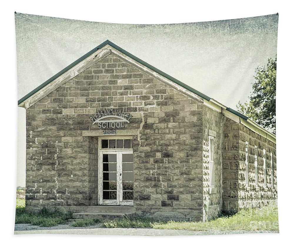 Pleasant Valley School Tapestry featuring the photograph Pleasant Valley School by Lynn Sprowl