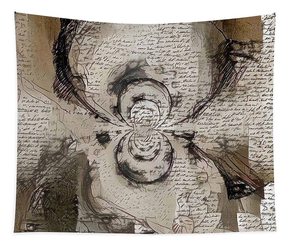 Draw Tapestry featuring the digital art Poem by Bruce Rolff