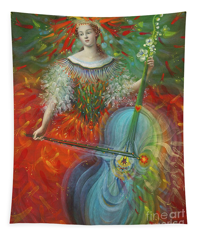 Poiesis Tapestry featuring the painting Poiesis I Art by Annael Anelia Pavlova