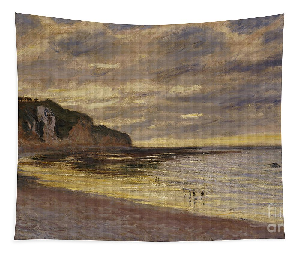 French Tapestry featuring the painting Pointe De Lailly by Claude Monet