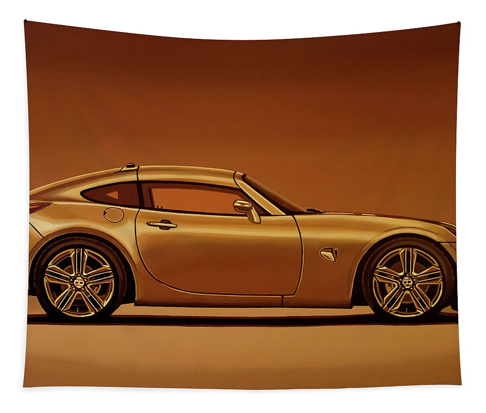 Pontiac Solstice Coupe Tapestry featuring the painting Pontiac Solstice Coupe 2009 Painting by Paul Meijering