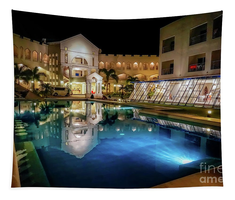 Boracay Tapestry featuring the photograph Poolside Boracay by Adrian Evans