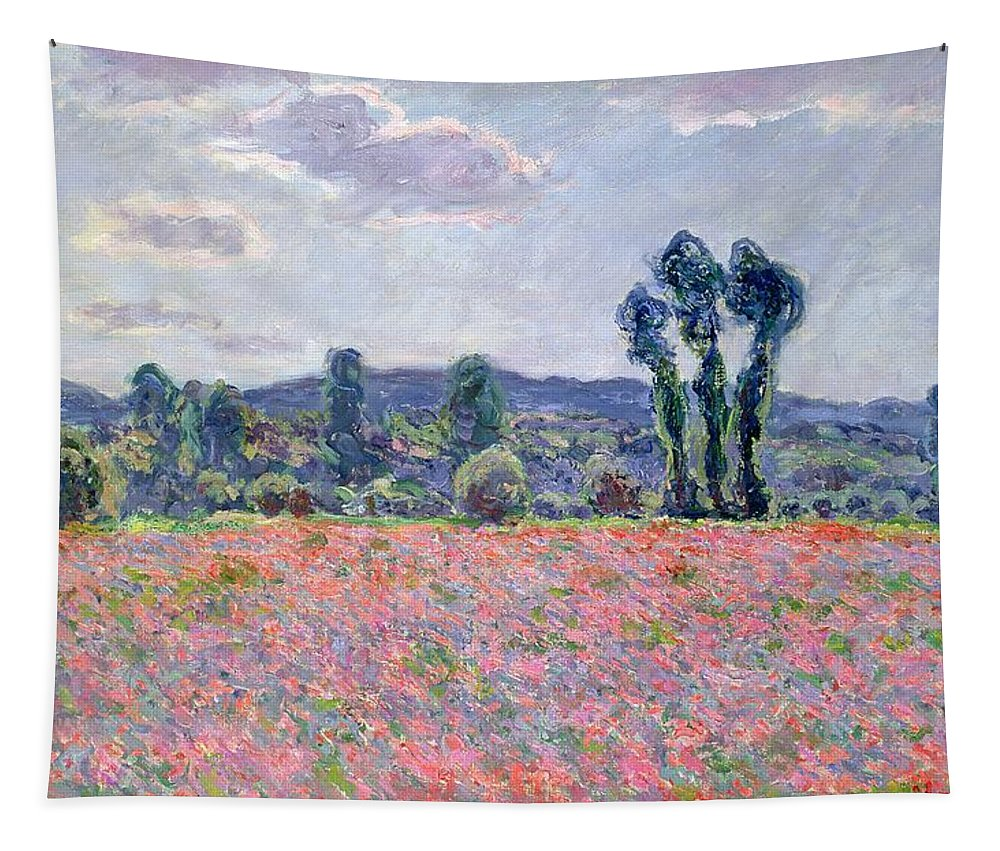 Monet Tapestry featuring the painting Poppy Field by Claude Monet