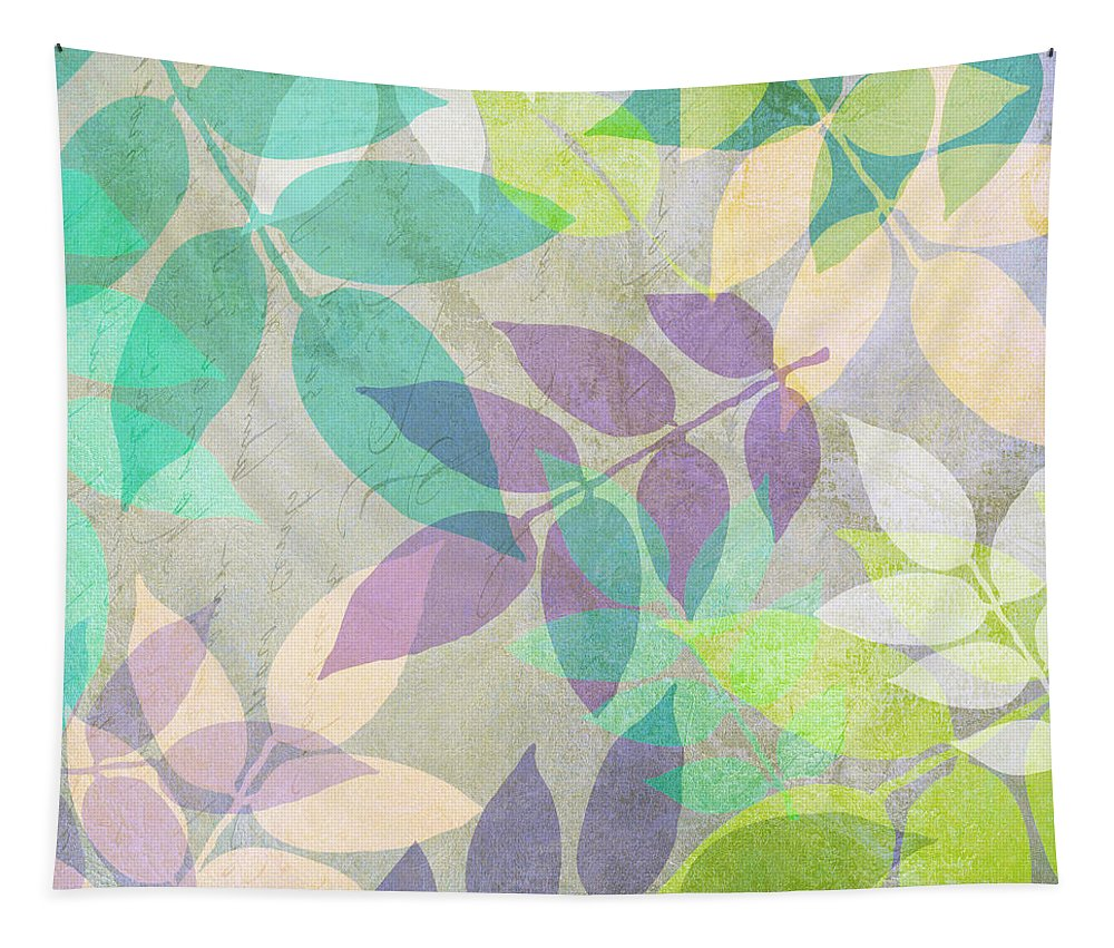 Leaf Tapestry featuring the painting Poppy Shimmer IIi by Mindy Sommers