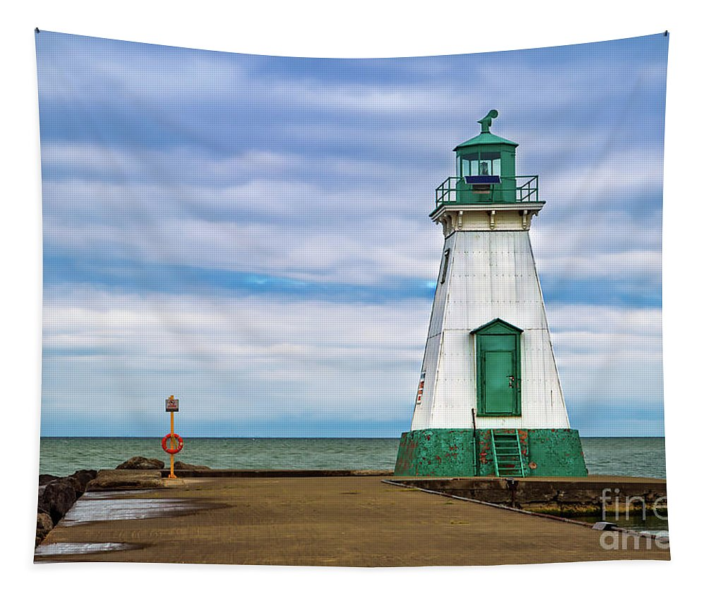 Lighthouse Tapestry featuring the photograph Port Dalhousie Lighthouse 1 by Jerry Fornarotto