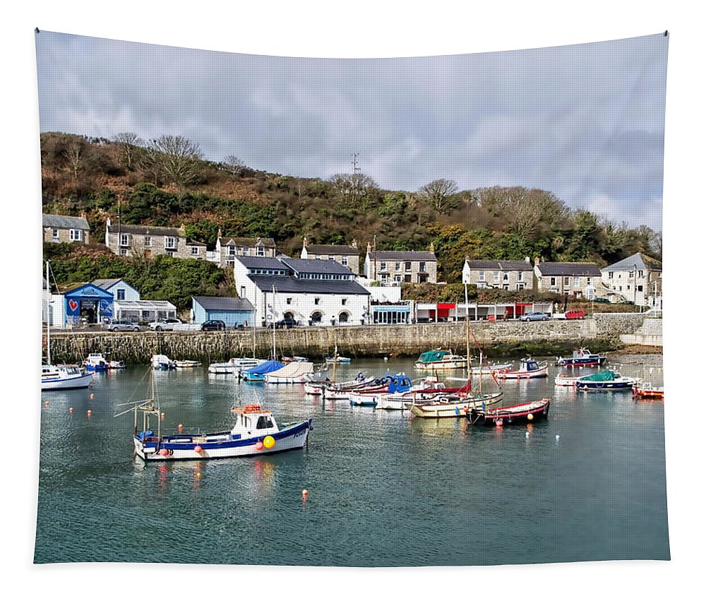 Porthleven Tapestry featuring the photograph Porthleven Harbour by Susie Peek