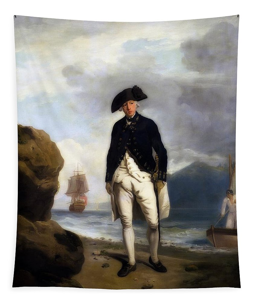 Painting Tapestry featuring the painting Portrait Of Captain Arthur Phillip, Royal Navy by Francis Wheatley