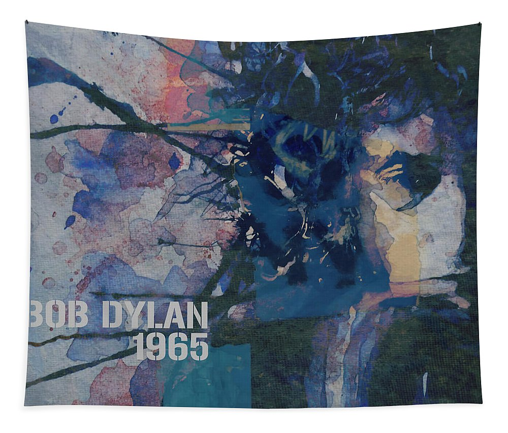 Bob Dylan Tapestry featuring the painting Positively 4th Street by Paul Lovering