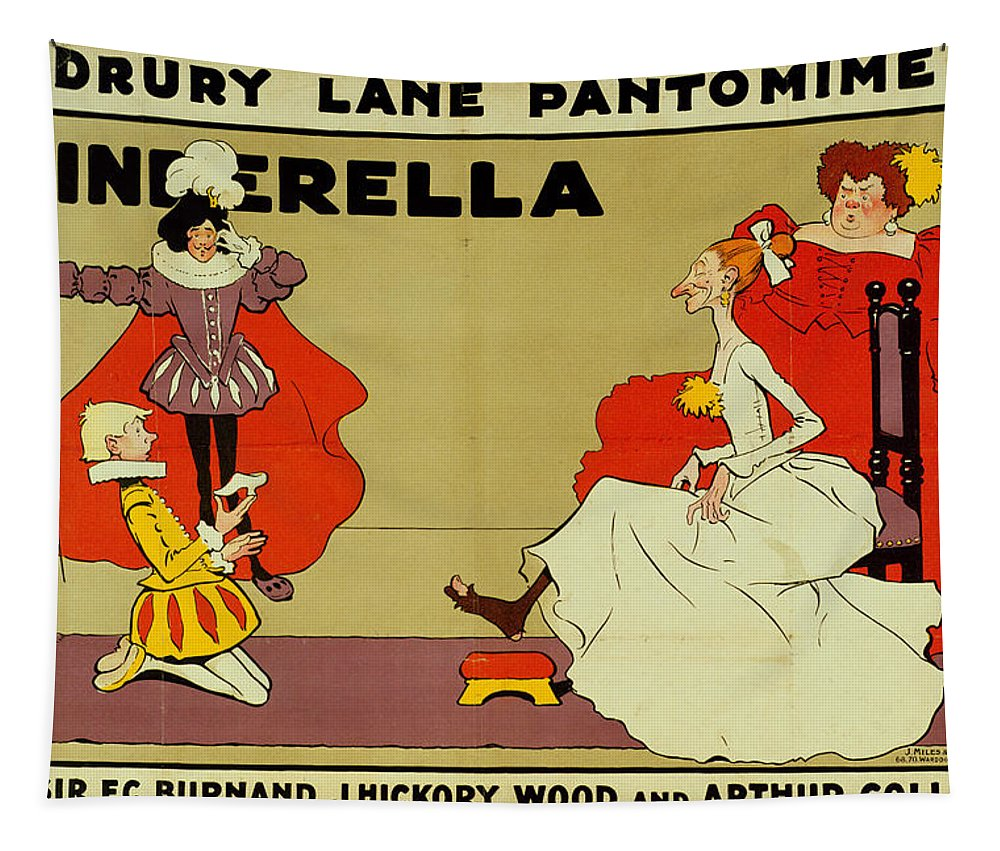 Cinderella Tapestry featuring the painting Poster For Cinderella by Tom Browne