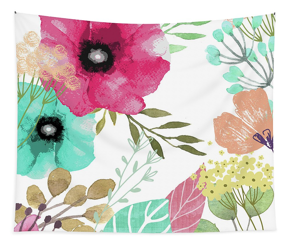 Flowers Tapestry featuring the painting Posy by Mindy Sommers