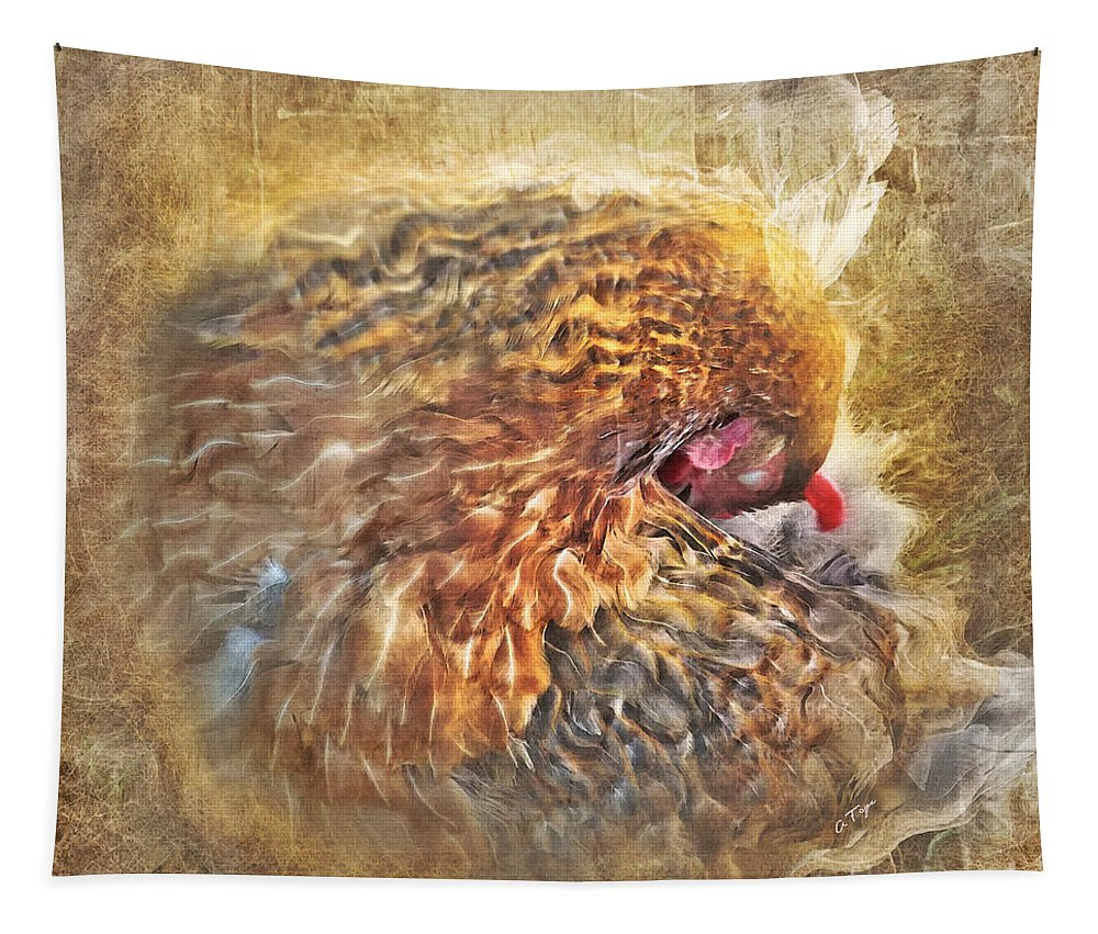 Poultry Passion Tapestry featuring the photograph Poultry Passion by Anita Faye