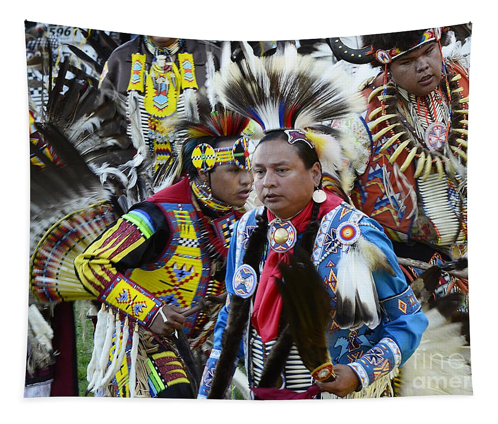 Pow Wow Tapestry featuring the photograph Pow Wow Back In Time 1 by Bob Christopher