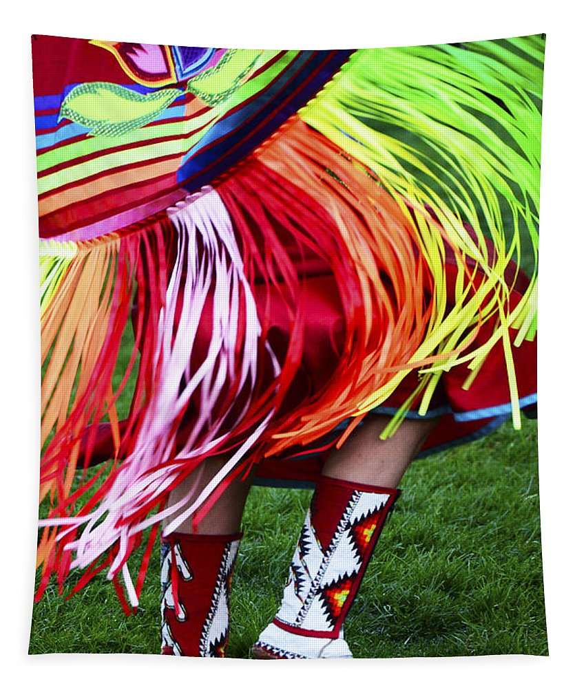 Pow Wow Tapestry featuring the photograph Pow Wow Beauty Of The Past 9 by Bob Christopher