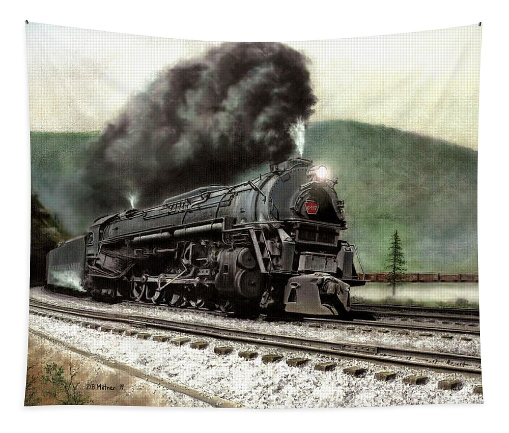 Tapestry featuring the painting Power on the Curve by David Mittner