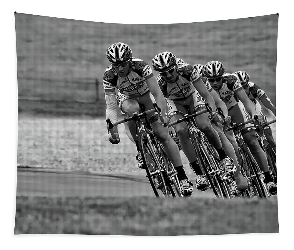 Cycling Tapestry featuring the photograph Practice by James Thomas