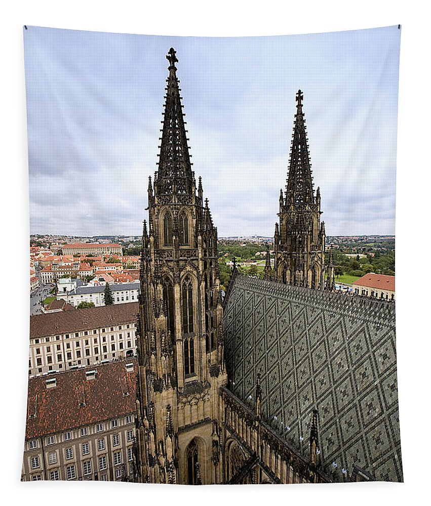 Prague Tapestry featuring the photograph Prague Castle by Madeline Ellis
