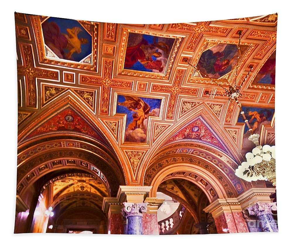 Prague Tapestry featuring the photograph Prague Church Ceiling by Madeline Ellis