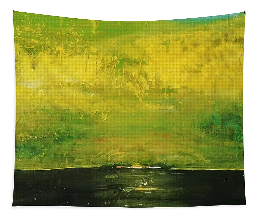 Country Tapestry featuring the painting Prarie at Sunrise by J Bauer