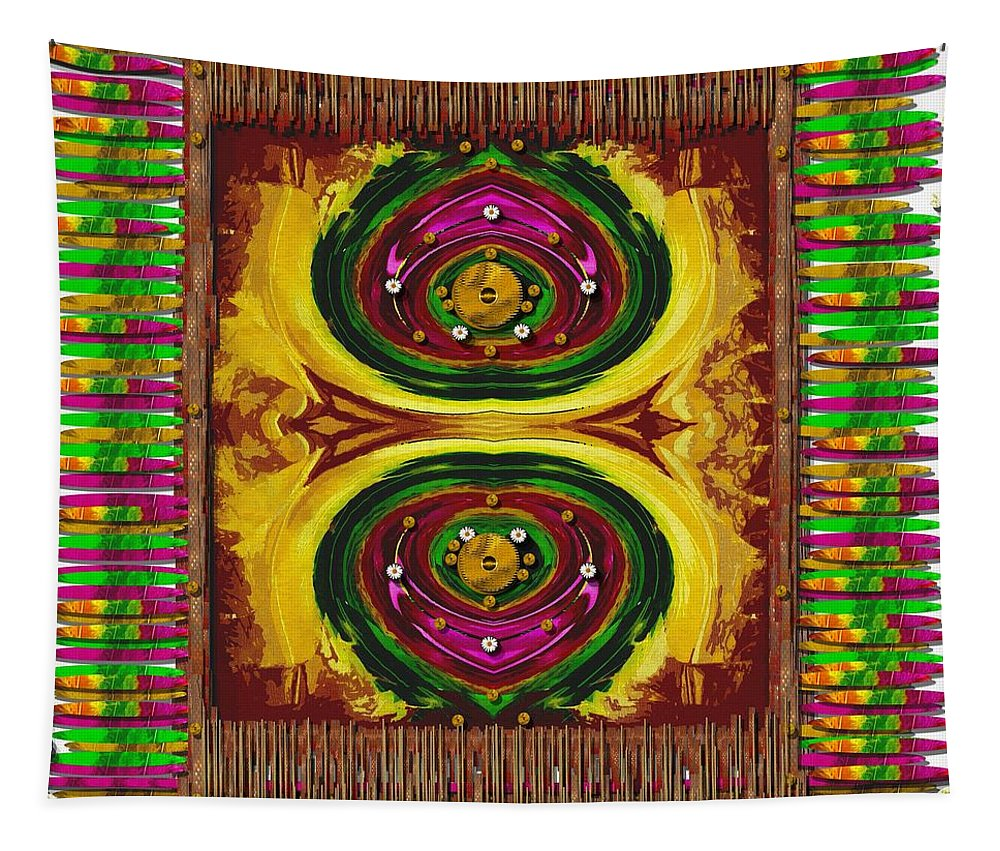 Prayerrug Tapestry featuring the mixed media Prayer Rug by Pepita Selles