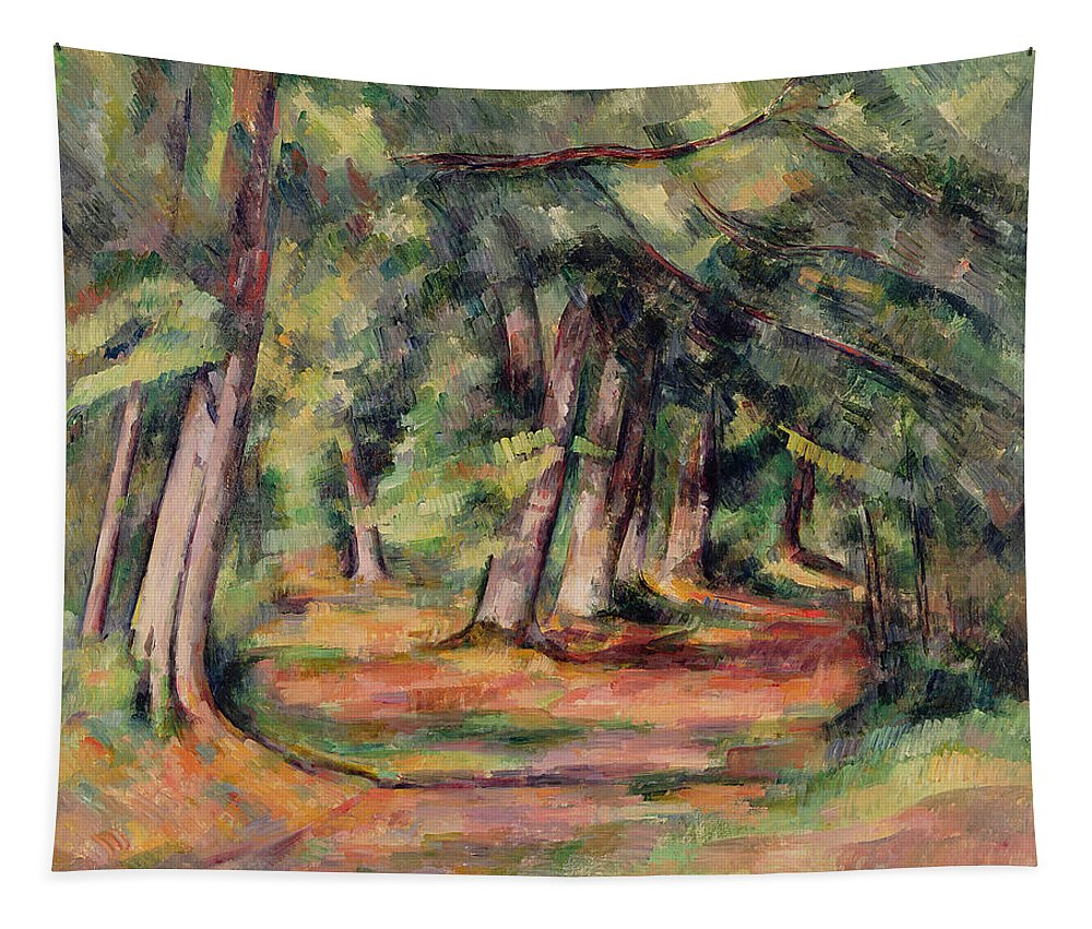 Sous-bois Tapestry featuring the painting Pres Du Jas De Bouffan by Paul Cezanne