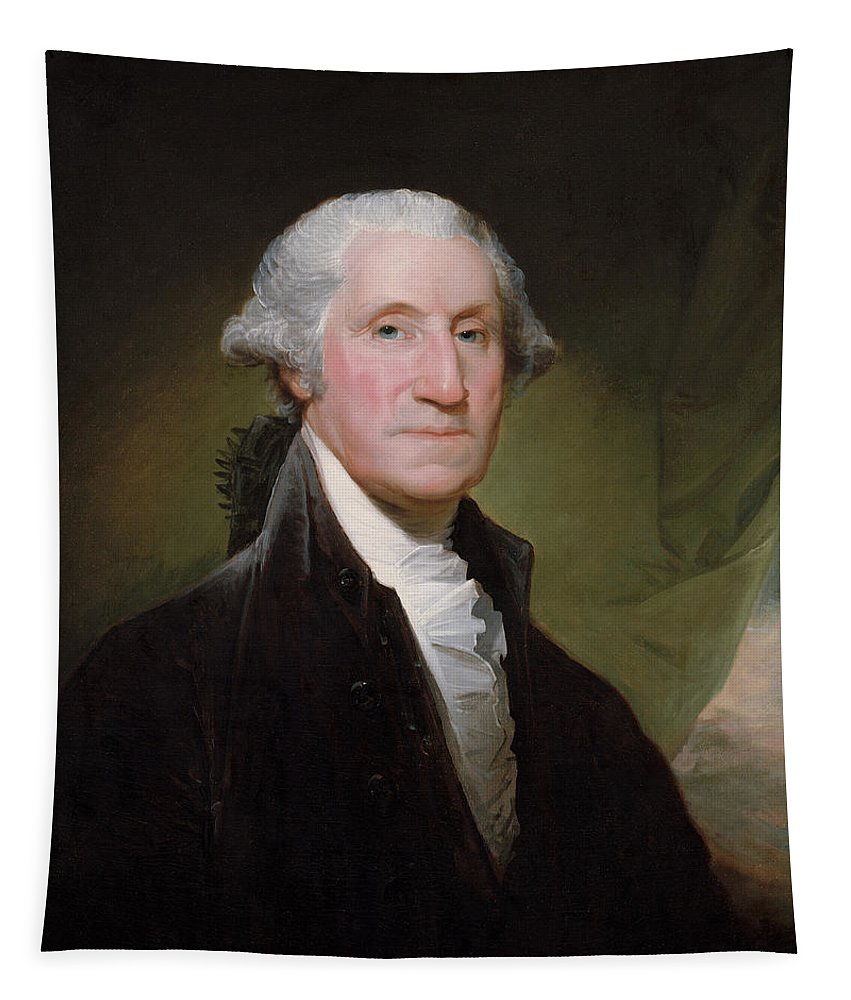 George Washington Tapestry featuring the painting President George Washington by War Is Hell Store